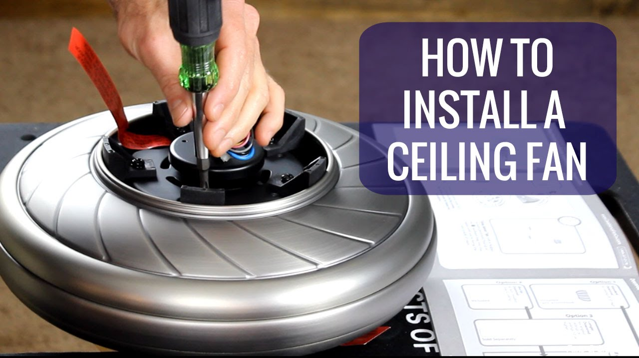 How to install a ceiling fan youtube how to install a ceiling fan mozeypictures Image collections