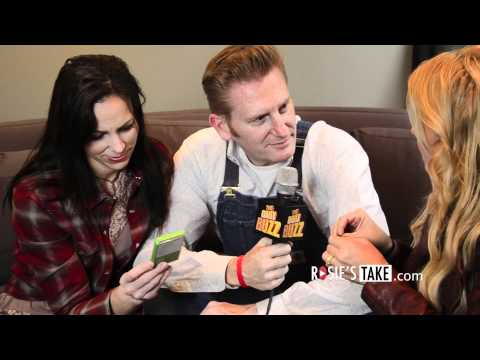 Joey and Rory in the music studio recording.