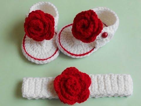 9e32e69a19f991 Baby Crochet Flip Flops Sandal Tutorial - YouTube