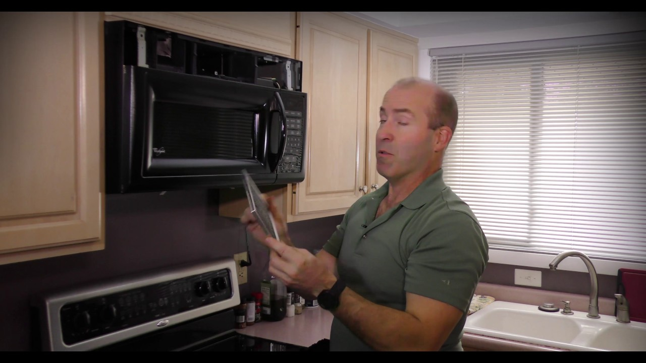 how to replace your microwave charcoal filter