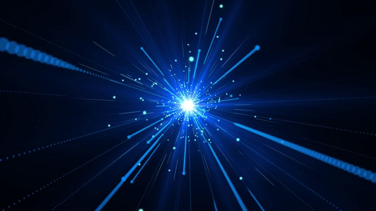 Blue Particle Burst Motion Graphics Background