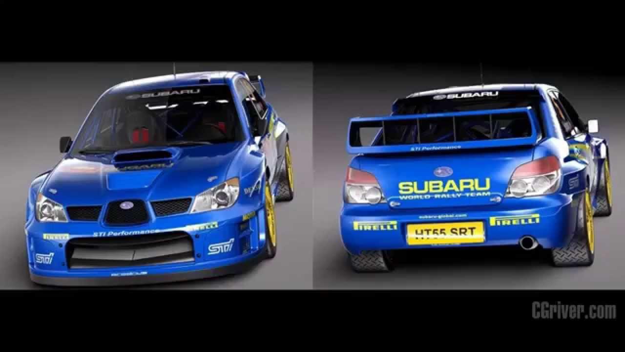 3d Model Subaru Impreza Sti Wrc 2006 Cgriver Com Youtube