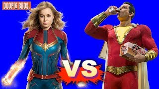 Captain Marvel Vs Shazam - Who's More Powerful?