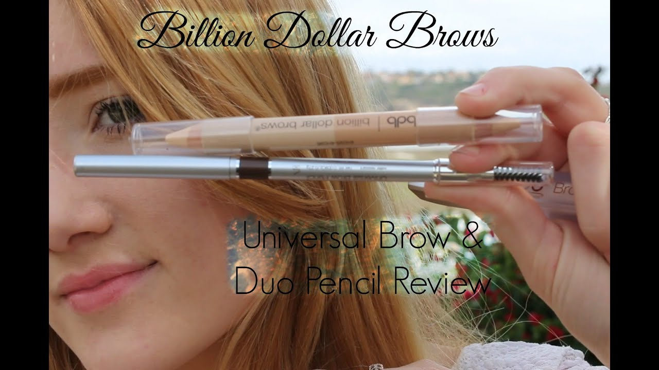 Universal Brow Duo Pencil Review Billion Dollar Brows Youtube