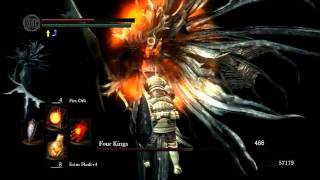 Dark souls: Four Kings Boss fight (quick path to boss included)