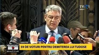 Prim-ministrul Mihai Tudose a demisionat. Declaraţii după şedinţa Comitetului Executiv PSD
