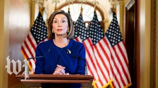 Watch Pelosi's full impeachment inquiry announcement House Speaker Nancy Pelosi (D-Calif.) announced a formal impeachment inquiry of President Trump in a Sept. 24 news conference. Read more: ..., From YouTubeVideos