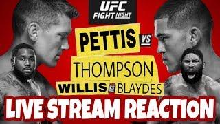 🔴 UFC FIGHT NIGHT 148 LIVE STREAM - UFC NASHVILLE - THOMPSON VS PETTIS LIVE REACTION