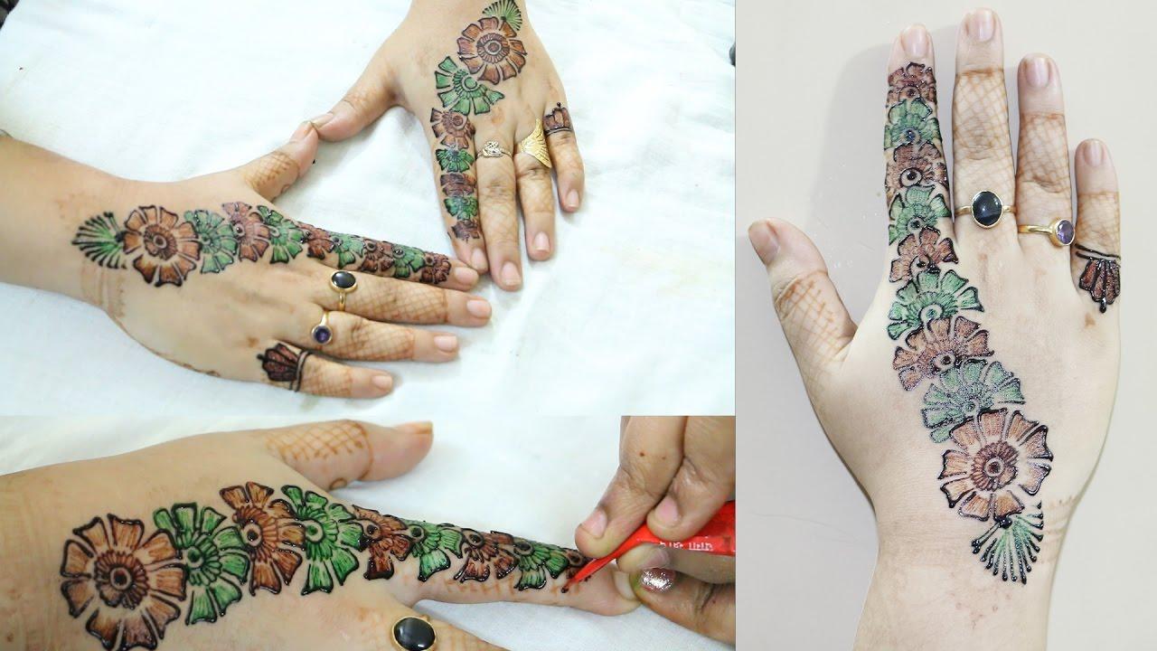 Arabic Finger Mehndi Design   Colourfull Mehndi Design ...