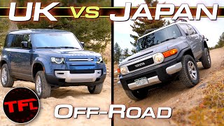 New Defender vs. FJ Cruiser vs. Tombstone Hill: Does Japanese Reliability Trump British Tech?