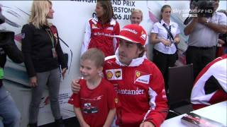 Silverstone, Kimi at autographs session and Massa's party - 05/07/2014