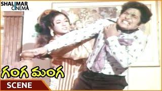 Ganga Manga Movie || Vanisri Torturing Chandra Mohan || Krishna, Sobhan Babu || Shalimarcinema