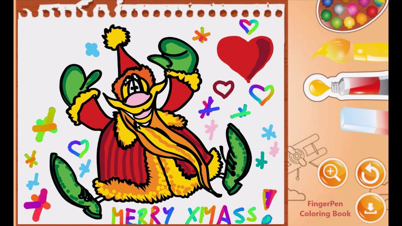 Coloring Pages For Kids Drawing Christmas Santa Claus