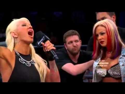 TNA Impact 6/3/15 Velvet Sky Angelina Love Get Arrested