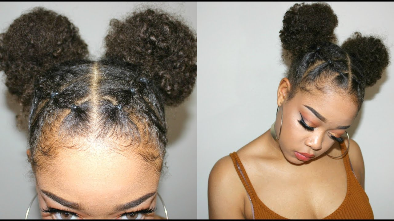 Not Your Ordinary Space Buns Natural Hairstyles Series Youtube