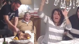 Bashing The Thanksgiving Turkey - Thanksgiving Pranks