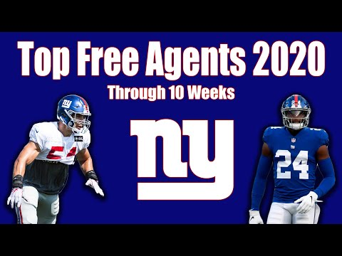 NY Giants: Top 3 2020 Free Agents Through 10 Weeks