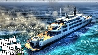 Yacht on Fire - GTA 5 PC MOD
