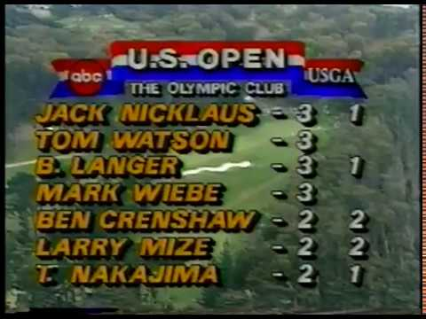 Golf  1987  US Open  Round 2  Olympic Golf Club  Host Jim McKay  Dave Marr