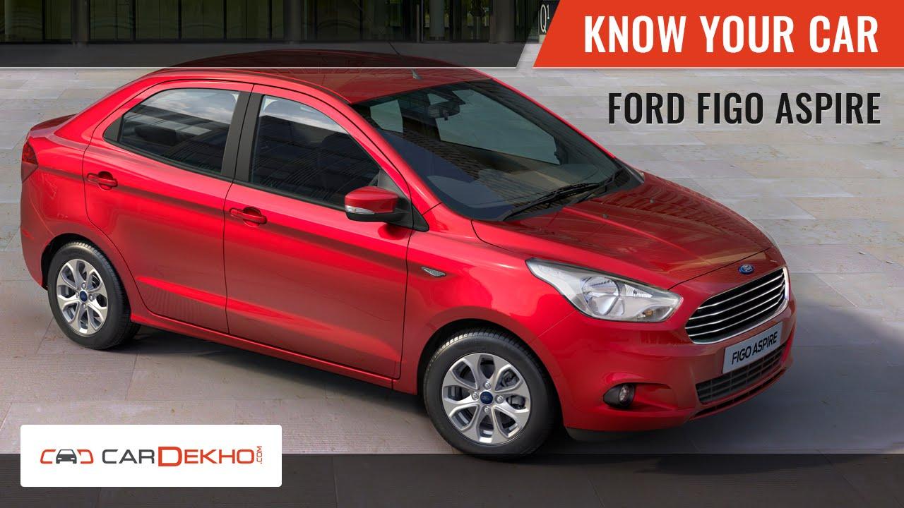 Know your ford figo aspire review of features cardekho com youtube