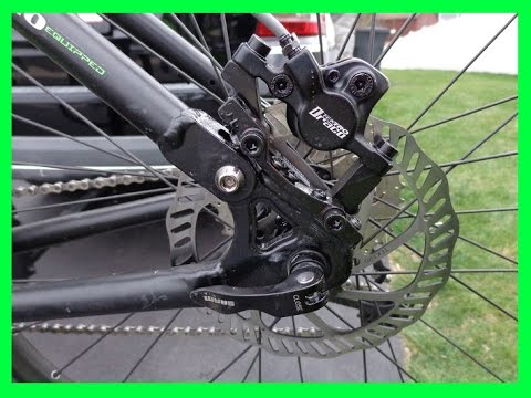 65d17cd6cc8 how to convert mountain bike from V brake to disc brake - YouTube