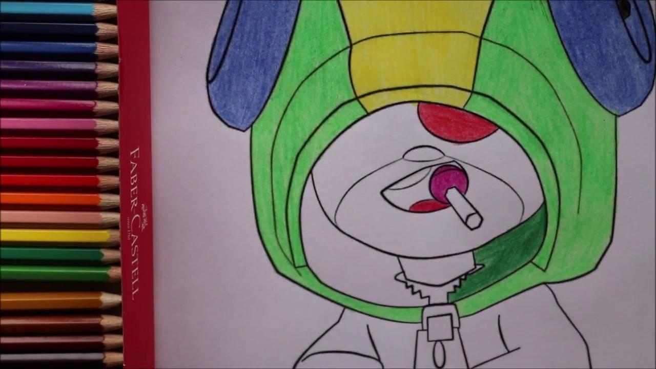 Coloring Leon Brawl Stars Faber Castell | Раскраска Леон ...