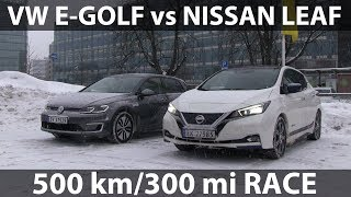 Race between Leaf and e-Golf