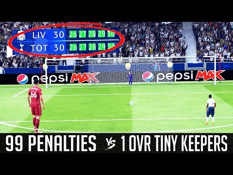 99 Rated Outfield Players VS 1 Rated Tiny Goalkeepers (Penalty Shootout) - FIFA 19 Experiment