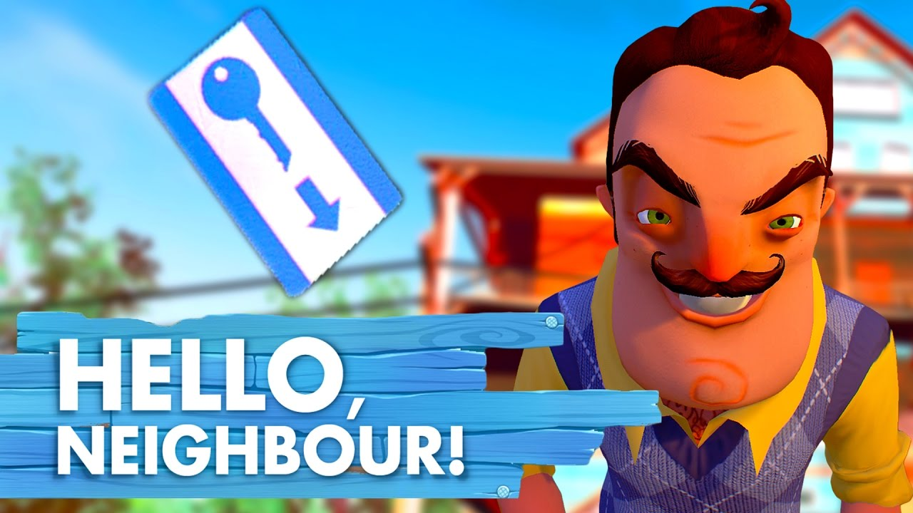 HOW TO GET THE KEYCARD | Hello Neighbor