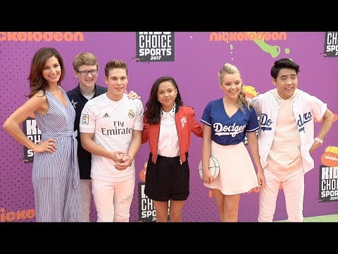 School of Rock Cast 2017 Kids' Choice Sports Awards Orange Carpet