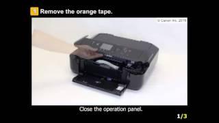 PIXMA MG5722: Setting Up the Printer