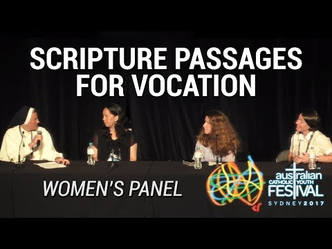 Scripture Passages for Vocation - Women's Panel at ACYF17