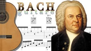 TUTO - BACH PRELUDIUM GUITAR - Tablature + Chords - FINGERSTYLE ARPPEGGIO
