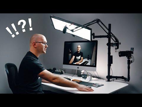 Entire Youtube Studio Setup ON ONE DESK!