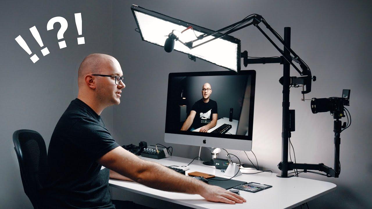 Entire Youtube Studio Setup On One Desk Youtube