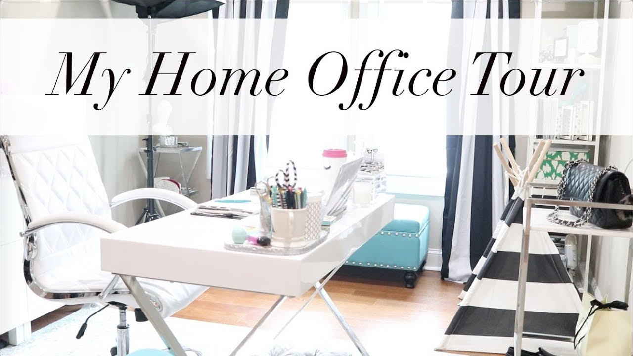 My Home Office Tour + Office Styling Tips | Workspace Wednesday ...