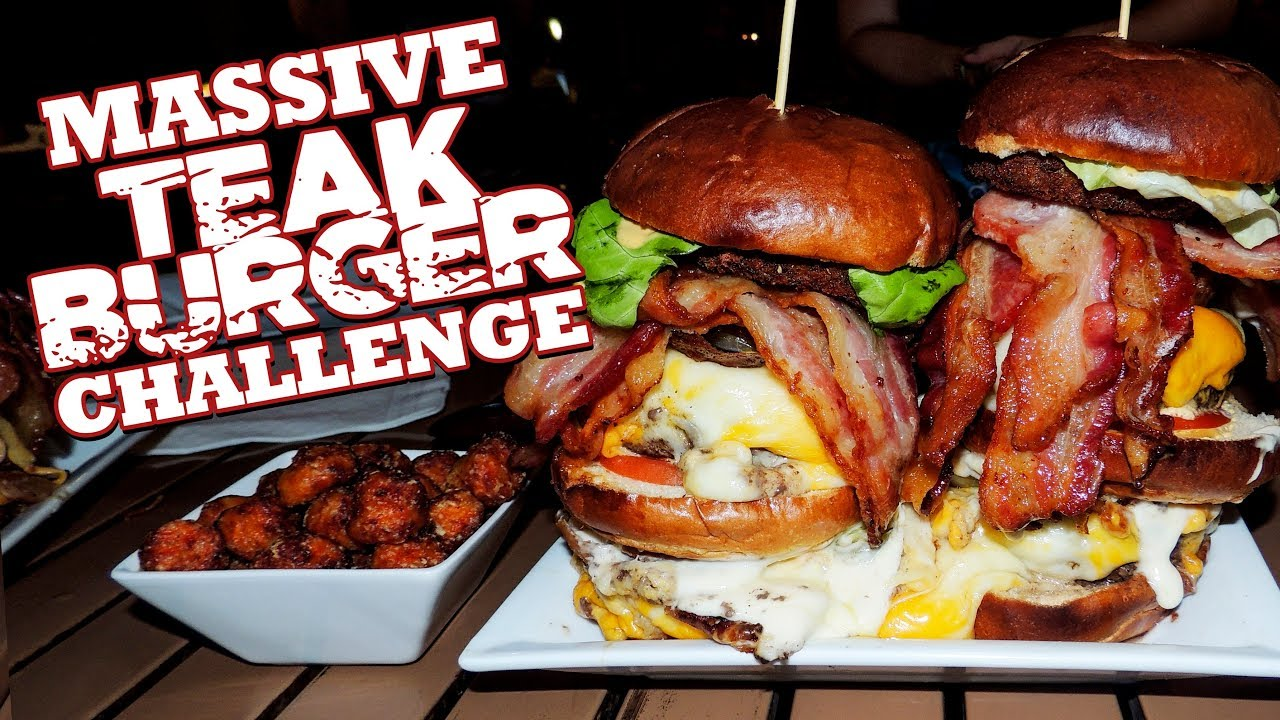 Cheesy Bacon Burger Challenge W Nathan Figueroa
