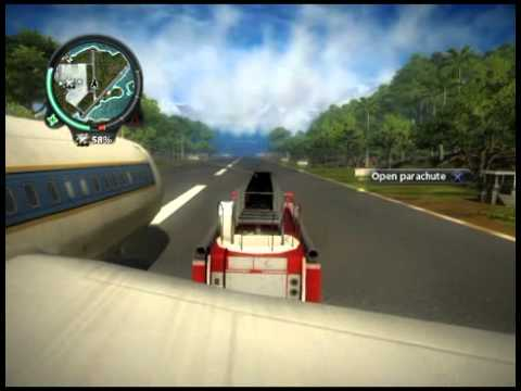 Just Cause 2 Freakin Awesome Firetruck Flying