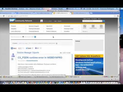 error web dynpro