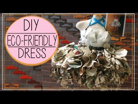 DIY Upcycled Newspaper & Plastic Cups Dress ♡ 環保膠瓶&報紙裙 | SHERRY W.