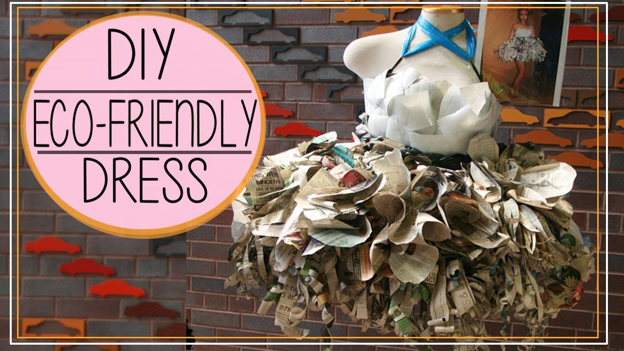 Diy Upcycled Newspaper Amp Plastic Cups Dress ♡ 環保膠瓶 Amp 報紙裙