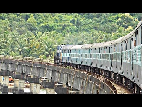 Train Crosses Longest Bridge On Konkan Railway!