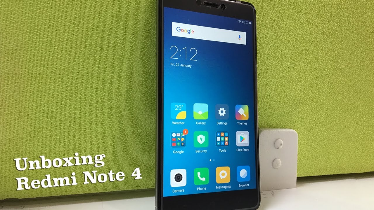 Redmi Note 4 Unboxing: Xiaomi Redmi Note 4 Unboxing (Indian Unit)