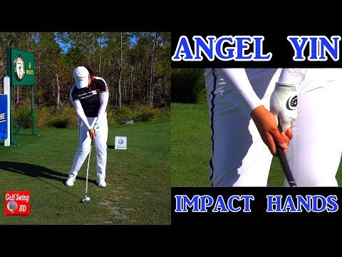 ANGEL YIN SLOW MOTION HANDS THRU IMPACT IRON GOLF SWING 1080 HD