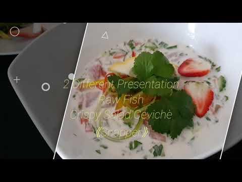 Crispy Cevichè Salad ( D'vine Raw Fish)