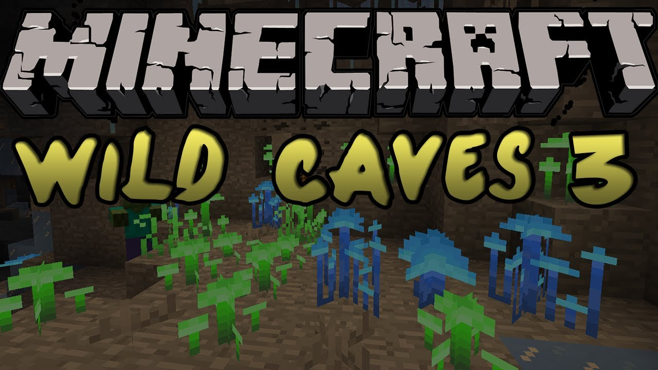 Minecraft Mods - WILD CAVES 3 MOD! GLOWSHROOMS & STALAGMITES! [1 4 5]