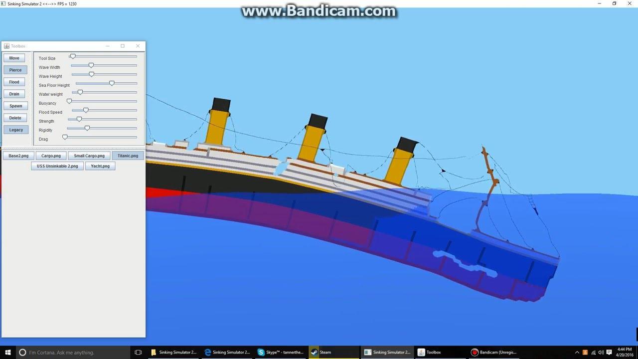 Sinking The Titanic Sinking Ship Simulator Youtube