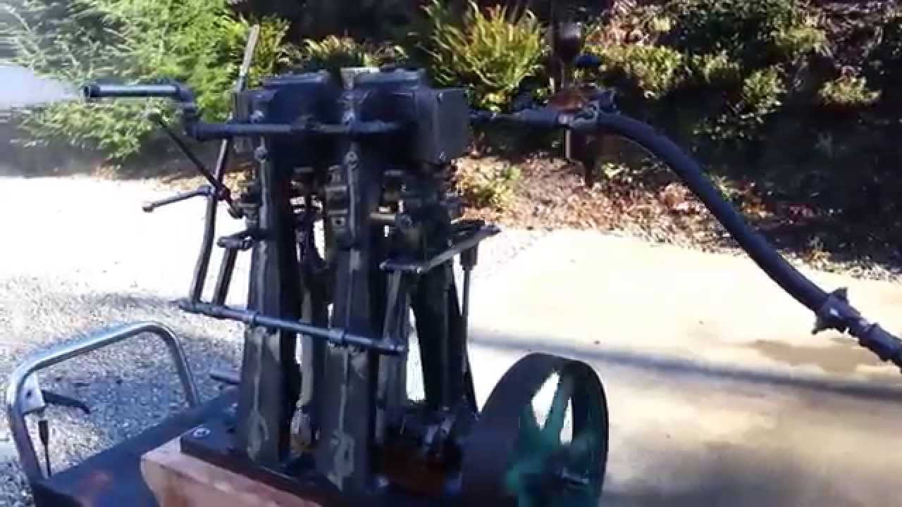 Steam Engine Twin Cylinder with Reverse Boat boiler SOLD - YouTube