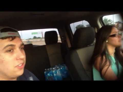 Girl driving dodge ram 1500