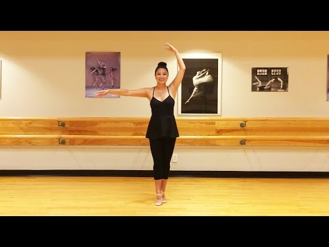 Beginner Ballet Lesson- How to spin around without getting dizzy - Spotting technique